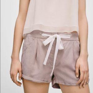 Aritzia Wilfred Allegra short taupe pink 00